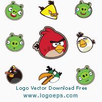 Angry Birds logo vector logo