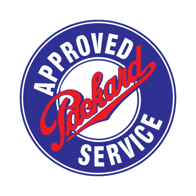 Approved packard service logo vector logo