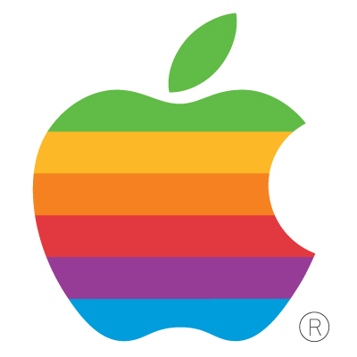 Old Apple Computer logo vector logo
