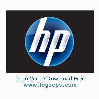 New HP logo vector logo