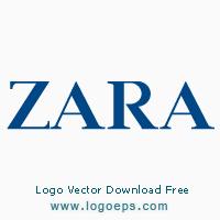 ZARA logo vector logo