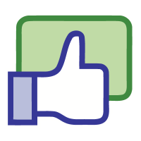 Facebook like button logo