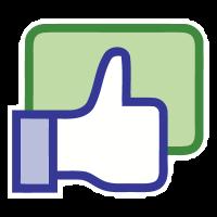 Facebook like button logo