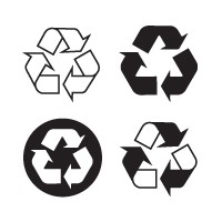 Recyclable, recycling vector