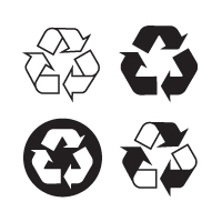 Recyclable, recycling vector logo