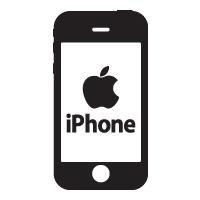 Iphone logo vector logo