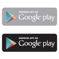 Android app on Google play logo vector logo