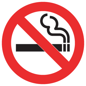 No Smoking logo vector logo