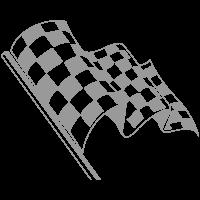 Car Cosmetic flag logo