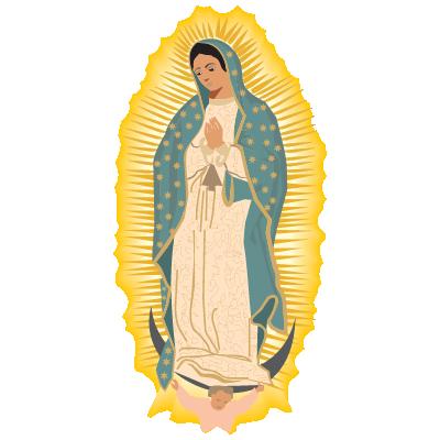 Virgen de Guadalupe vector logo