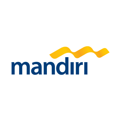Bank mandiri logo vector logo