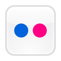 Flickr button logo