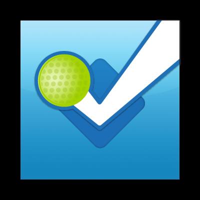 Foursquare button logo vector logo