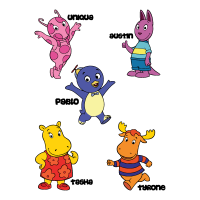 Backyardigans COLOR vector