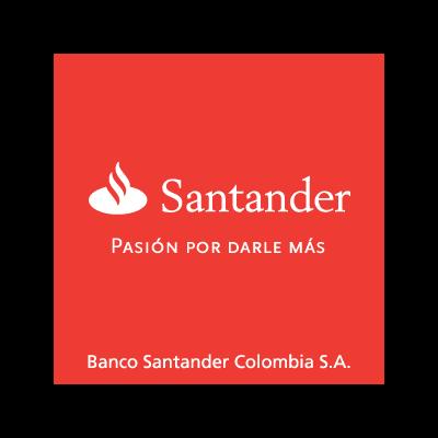 Banco Santander Colombia logo vector logo