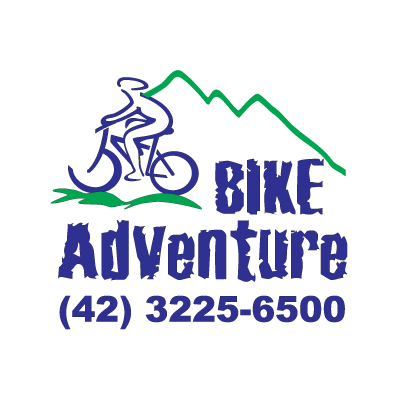 Bike adventure logo vector logo