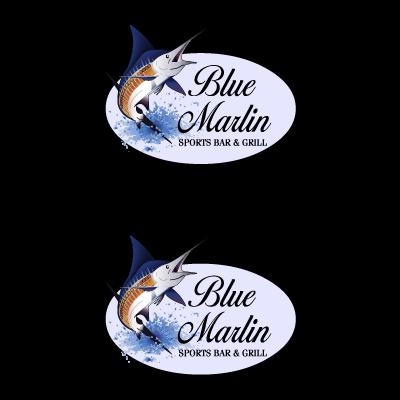 Blue Marlin Cafe logo vector logo
