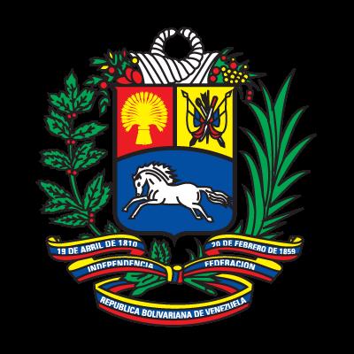 Coat of arms of Venezuela logo vector logo