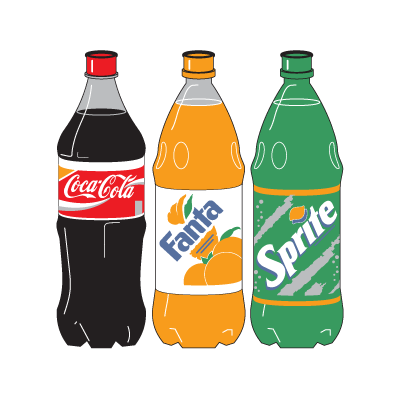 Coca-Cola Three Bottle logo vector logo