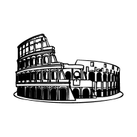 Colosseo roma vector