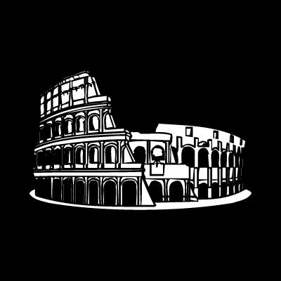 Colosseo roma vector logo