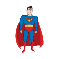 Comic Superman vector