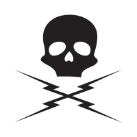 Death proof skull vector