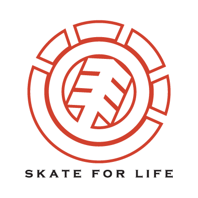 Element Skate For Life logo vector logo