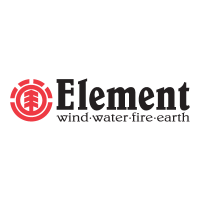 Element wind-water-fire-earth logo