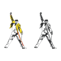 Freddie Mercury tribute vector