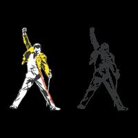 Freddie Mercury tribute vector