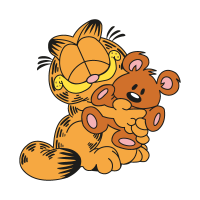 Garfield & Pooky vector