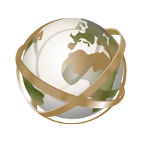 Globe tracing logo