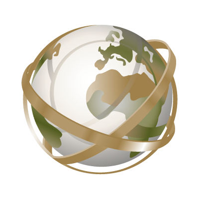 Globe tracing logo vector logo