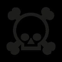 Grenade gloves skull logo