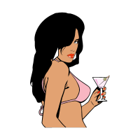 GTA Vice City Woman vector