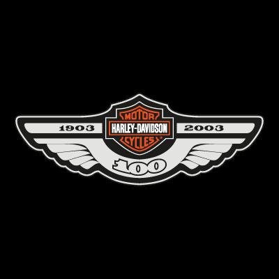 Harley Davidson 100 logo vector logo