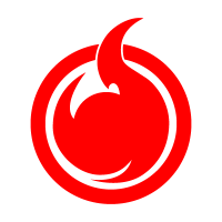 Hell Girl fire symbol logo