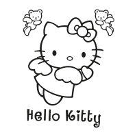 Hello Kitty black vector