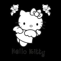 Hello Kitty black vector