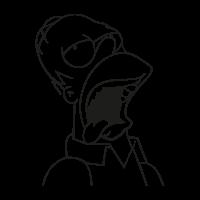 Homero Homer Cerveza Beer vector