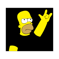 Homero metalero vector
