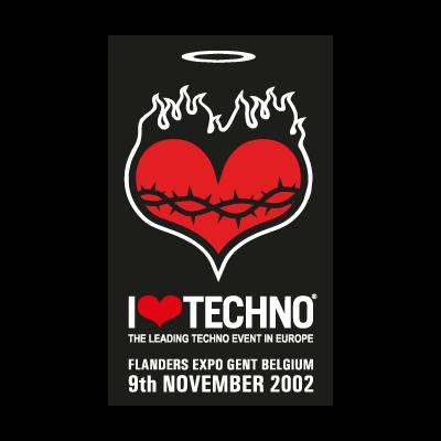 I Love Techno 2002 logo vector logo