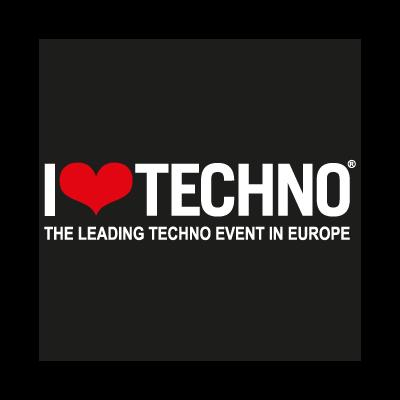 I Love Techno logo vector logo