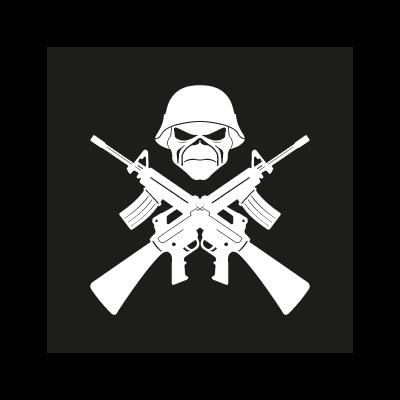 Iron maiden life and death logo vector logo