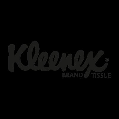 Kleenex black logo vector logo
