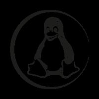 Linux Tux black logo
