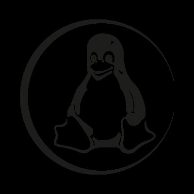 Linux Tux black logo vector logo