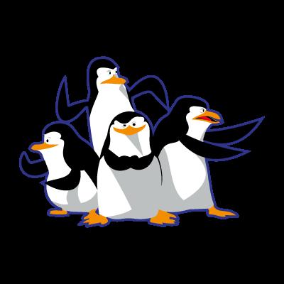 Madagascar pinguinos penguins vector logo