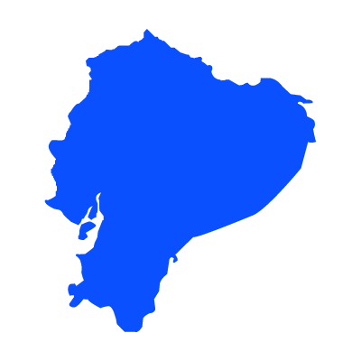 Mapa del ecuador vector logo